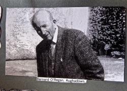 Bernard O'Regan led the protest