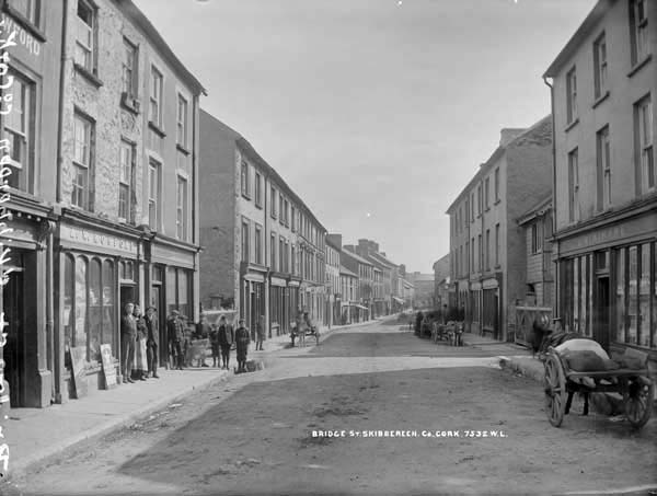Where Agnes grew up: Bridge Street, Skibbereen, 19th Century. National Library Collection