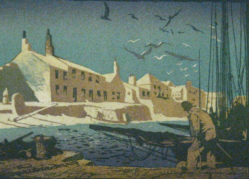 Mousehole, Mounts Bay - Ernest Watson