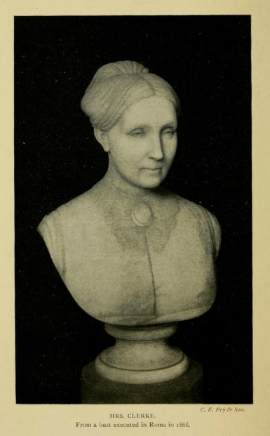 Bust of Mrs Clerke, done in Itlay