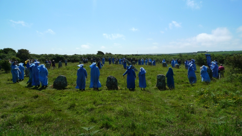A Meeting of Bards (at Boscawen-Un Stone Circle, West Penwith, Cornwall