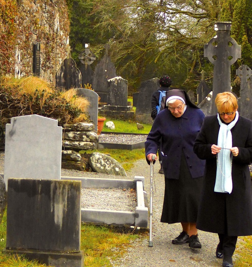Making the Rounds at Saint Gobnait's Shrine on the Feast Day