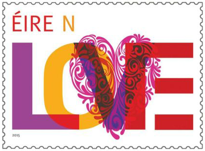 An Post Valentine stamp for 2015