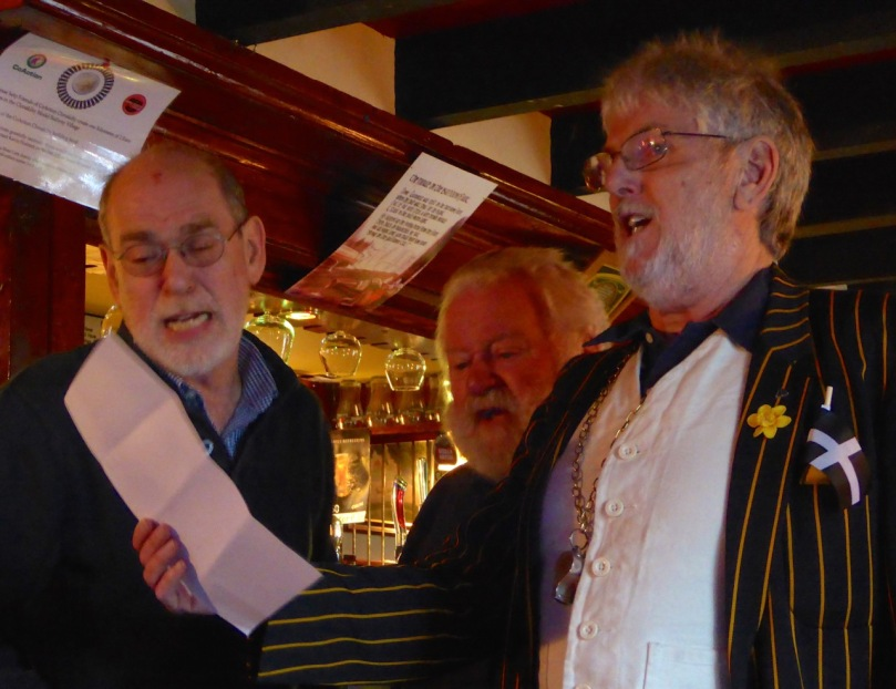 Jonathan Ball (right) - Architect, Co-Founder of the Eden Project - and Chorus Master