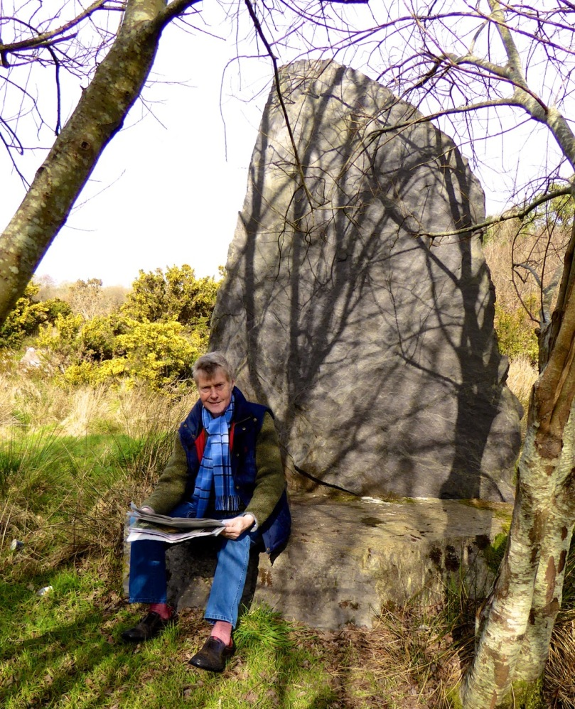 Time for the weekend paper - Robert takes to the Druid's Chair