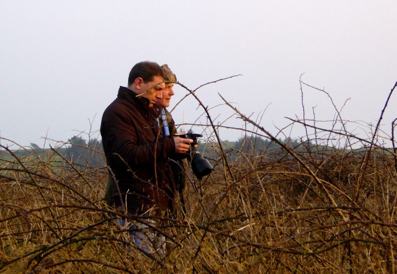 Ken and Robert: getting ready for sunset at Bohonagh