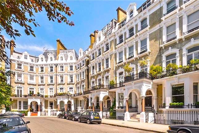 Redcliffe Square, home to the Clerkes in London