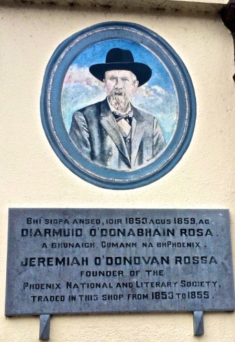 The other Bridge Street Plaque: O'Donovan Rossa