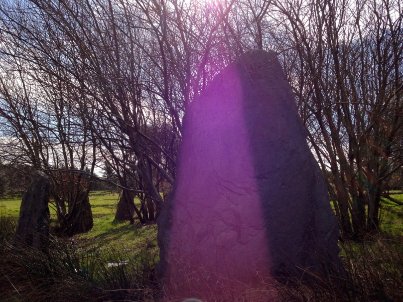 Megalith, enjoying a trick of the sun...