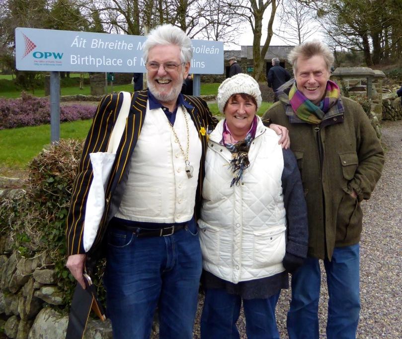 Jonathan, Finola and myself, having a Michael Collins moment...