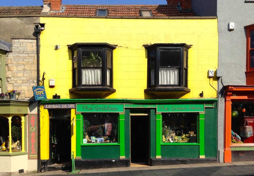 Typical Glastonbury shopfront