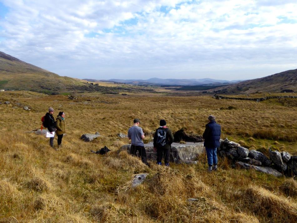 In Derreeny, Looking down the Kealduff Valley
