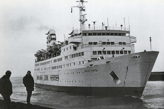 The Swansea-Cork ferry, the Celtic Pride1980s