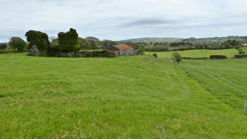 Aghadown Fortified house occupies high ground with a commanding view