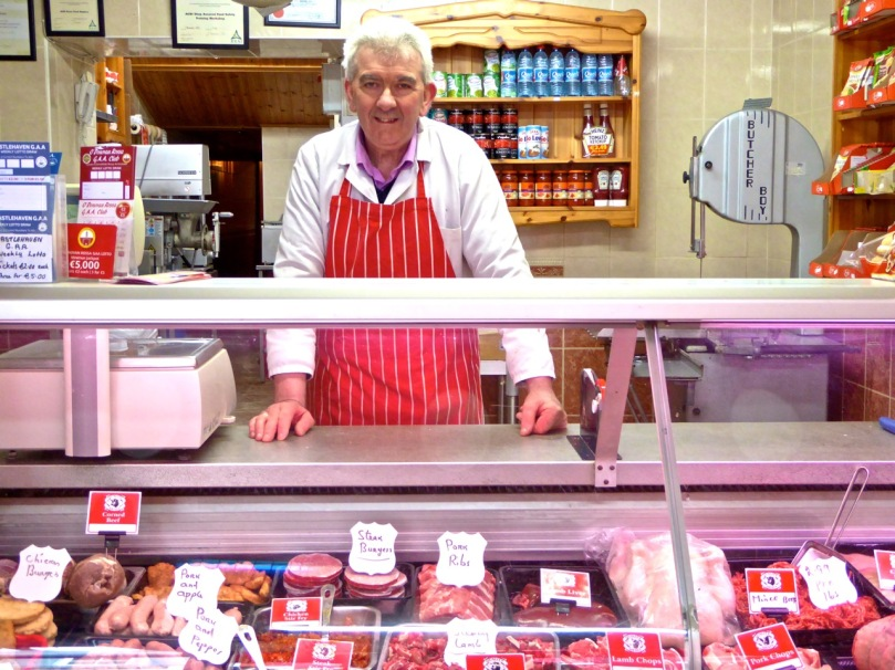 Andy O'Sullivan of Skibbereen. He's been a butcher all his life and says the 5 year apprenticeship offers excellent training.