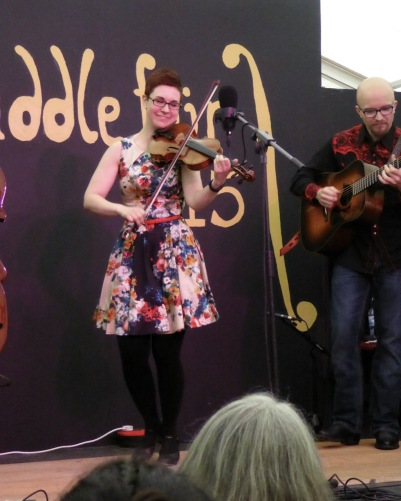 April Verche - fiddling, dancing AND smiling!
