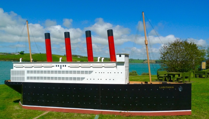 Model of Lusitania on display in Courtmacsherry, 2015