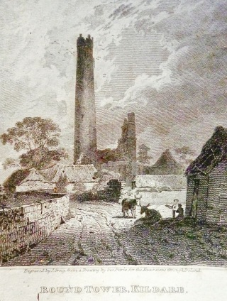 round tower engraving