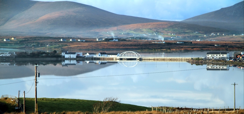 The new Michael Davitt Bridge, connecting Achill Island with the mainland - courtesy Polranny Pirates