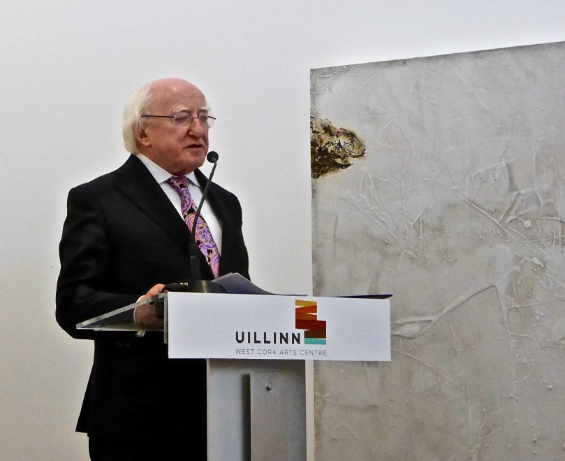 President Michael D Higgins formally opening Skibbereen's new Arts Centre