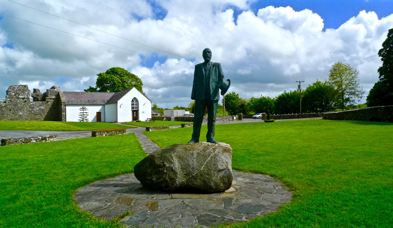 Straide, Co Mayo - Michael Davitt's statue outside the museum dedicated to him