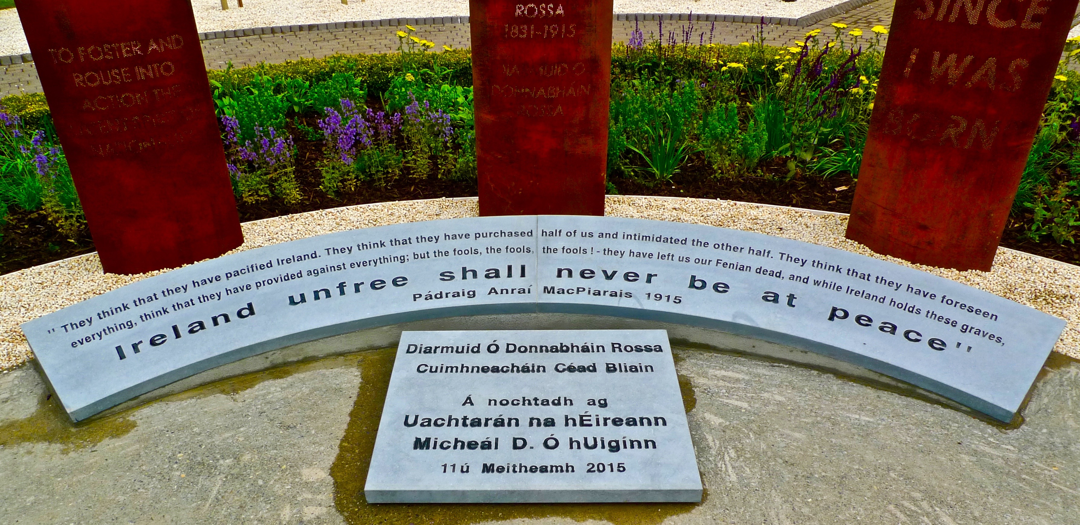 New commemorative sculpture in Skibbereen's O'Donovan Rossa Memorial Park