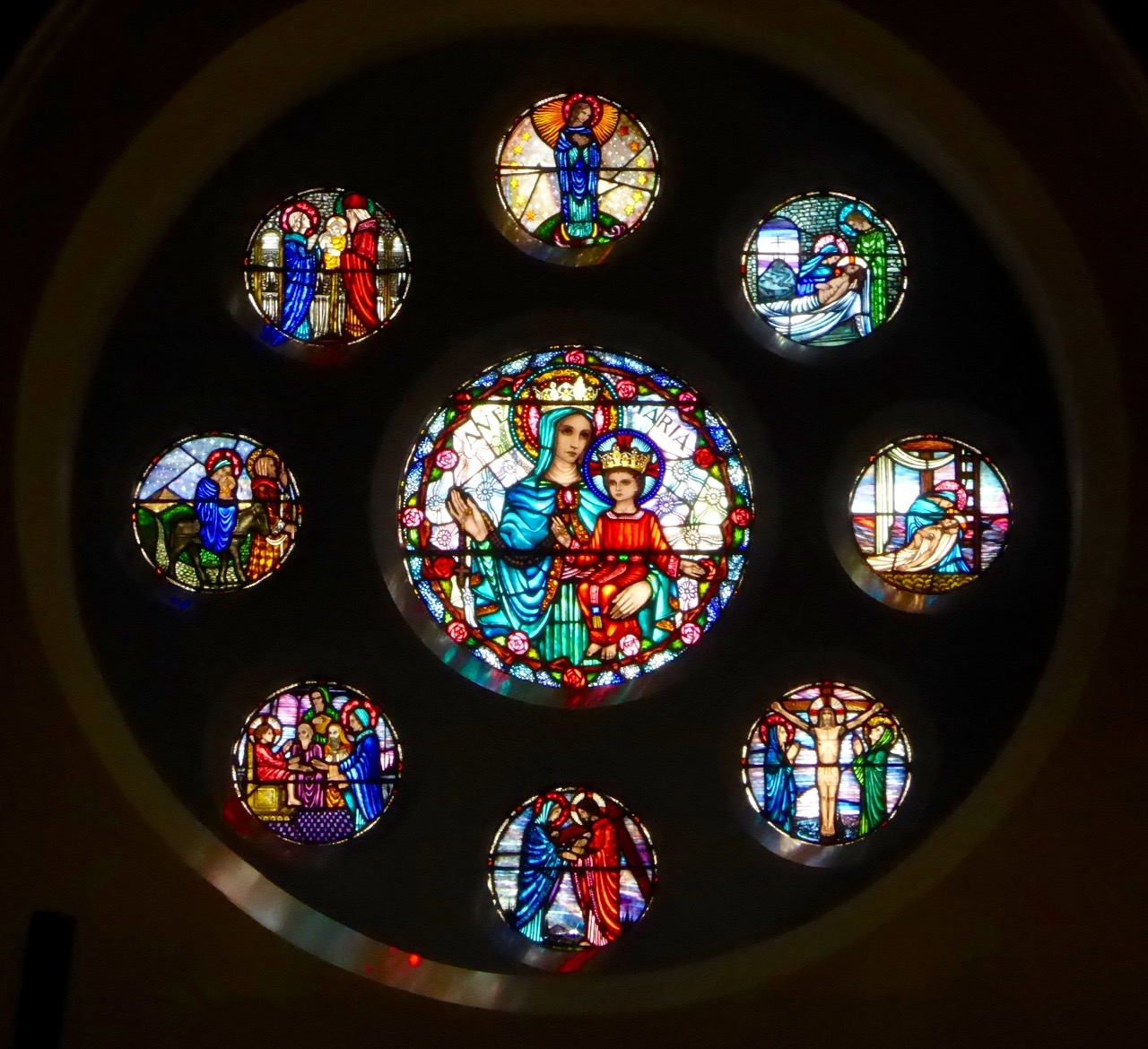 Kilco Holy Rosary Rose Window Harry Clarke Studio