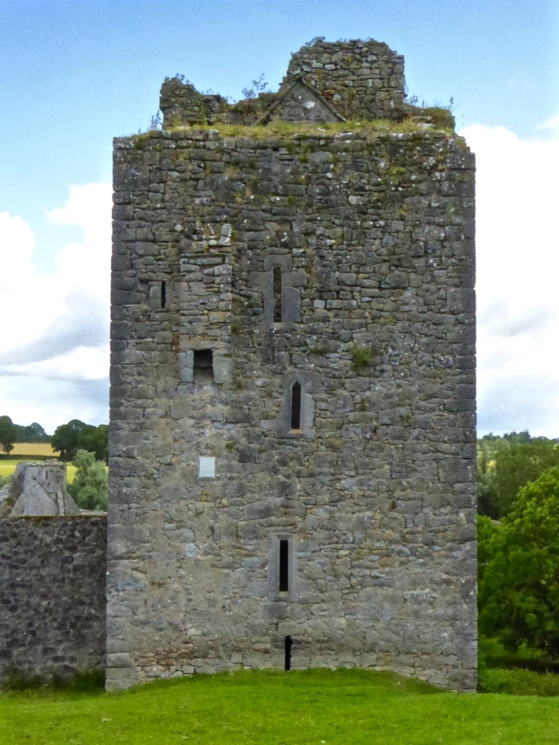 Southeast Tower. Three different windows and a guarderobe chute
