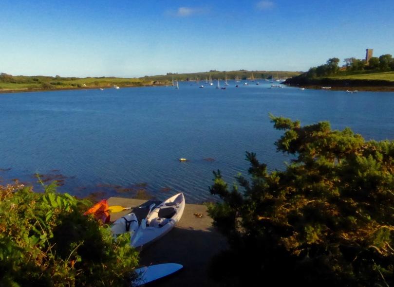 Kayaks at Rossbrin Cove
