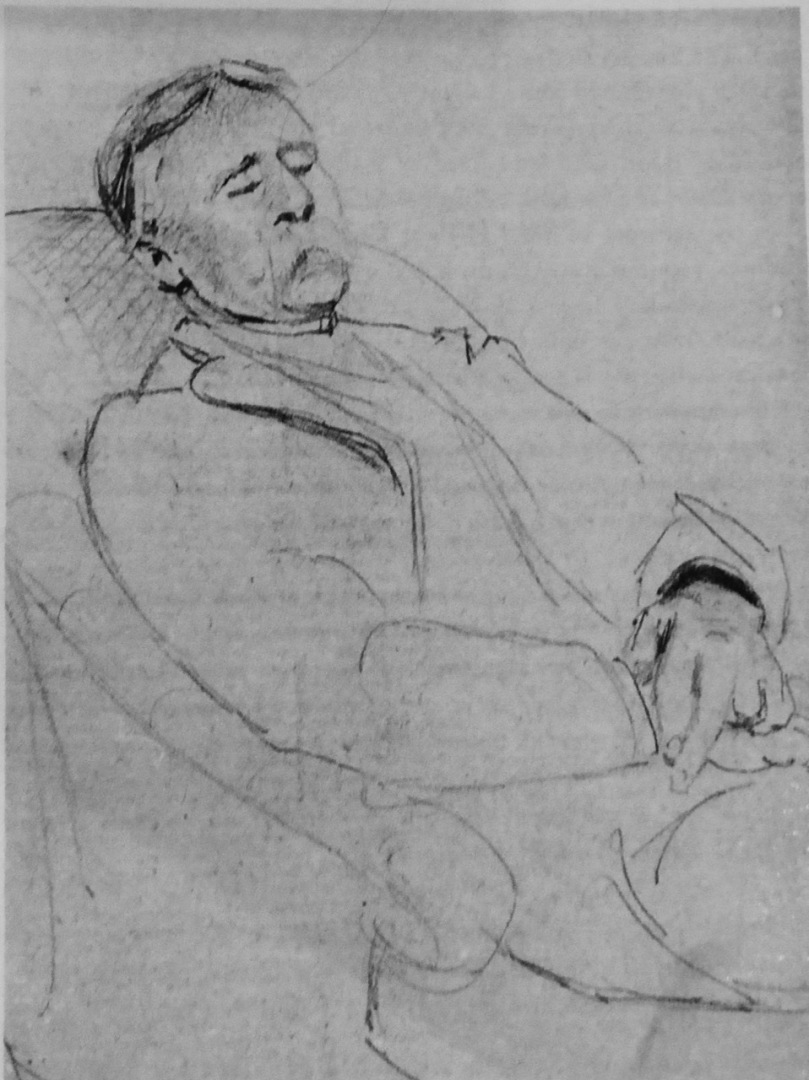 Kendal Coghill, drawn by his niece, Edith Somerville