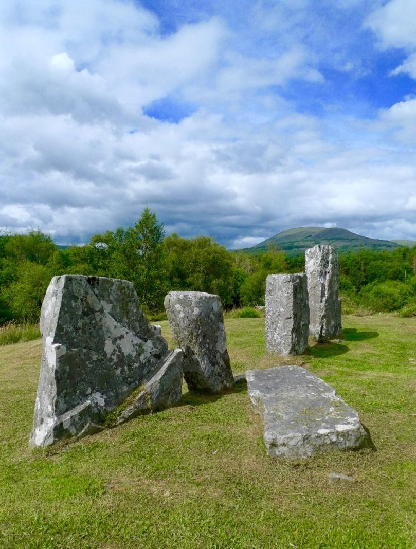 The stone row with recumbent stone