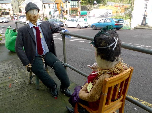 Two Diners at the Leap Scarecrow Festival