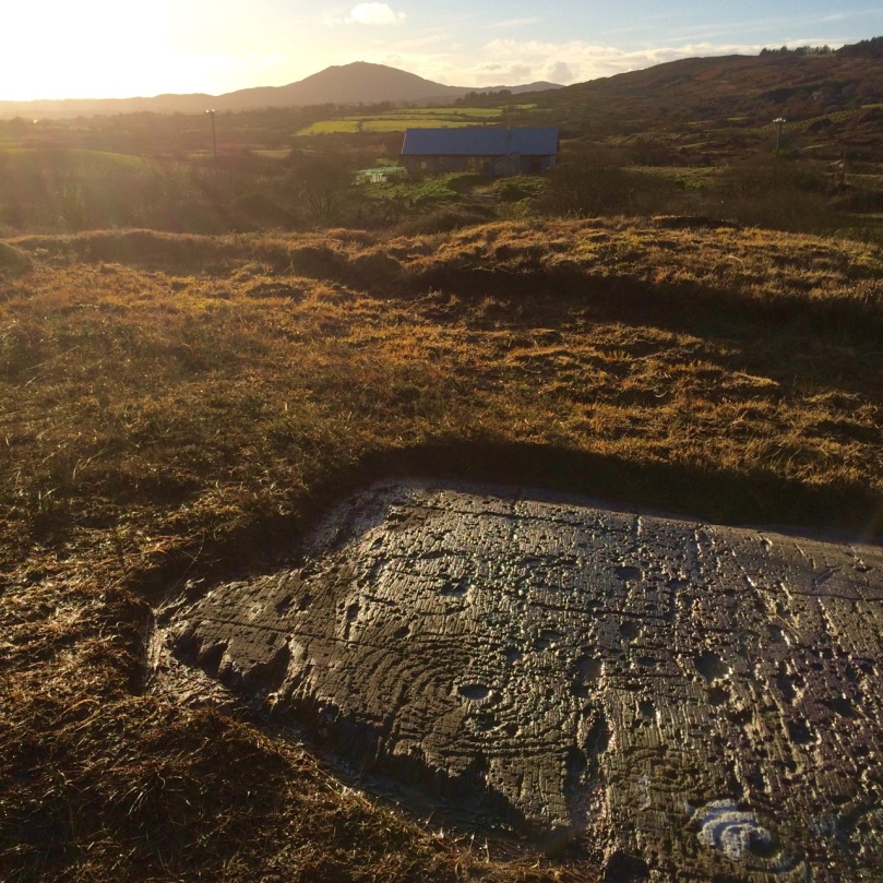 Rock Art from West Cork, Mount Gabriel in the background