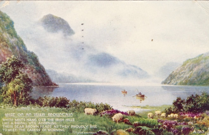 irish mountain postcard