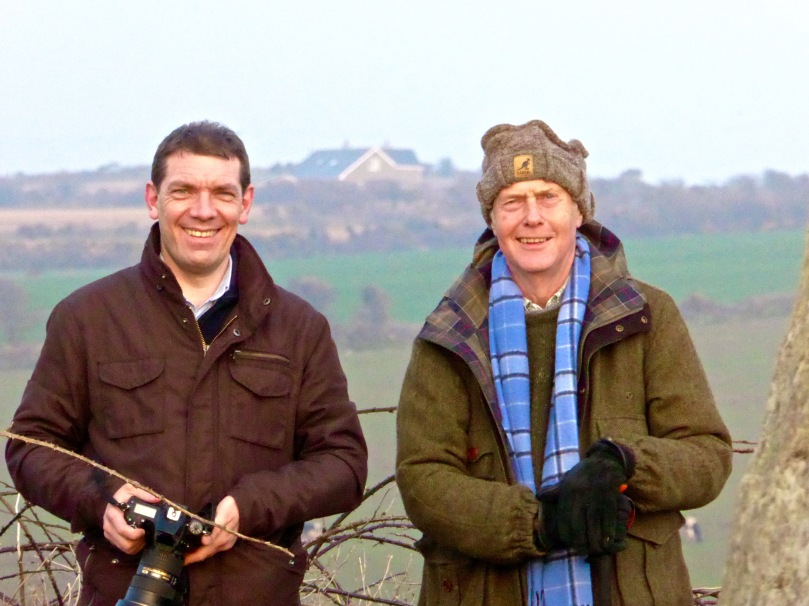 Ken and Robert photographing the Bohonagh Equinox Sunset