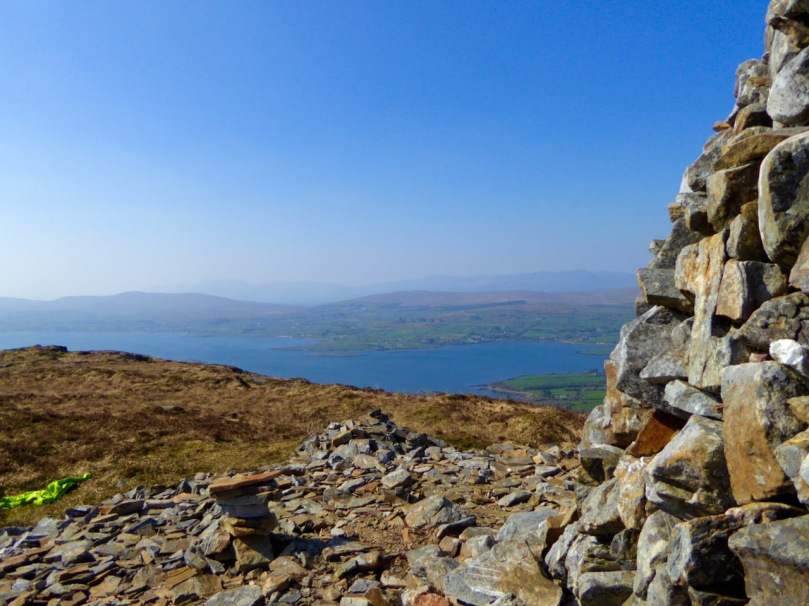 View from the cairn, Mount Corrin