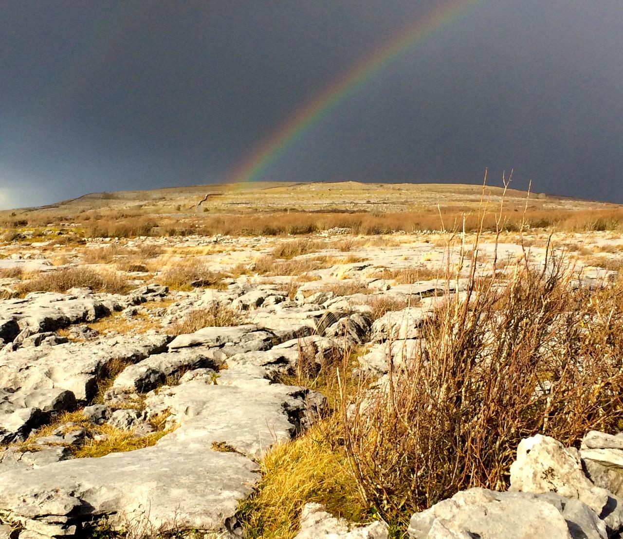 rainbow over burren