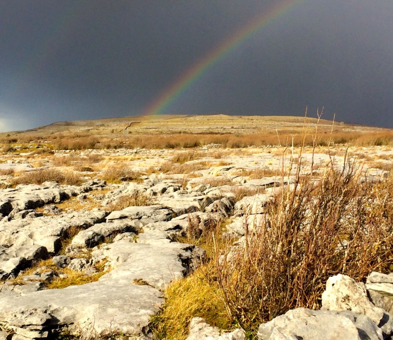 rainbow over burren