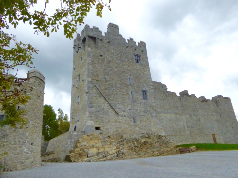 Ross Castle, in Killarney, is also built on an outcropping rock base