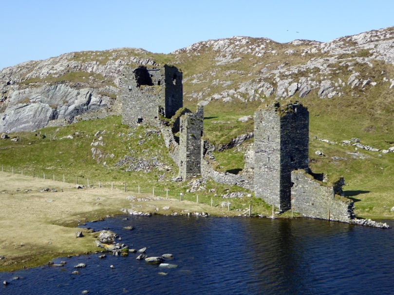 Dunlough, or Three Castles. The curtain wall presented a formidable barrier to attackers