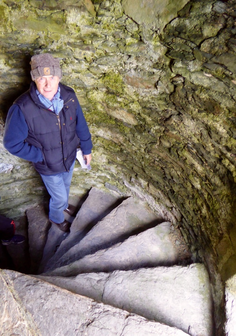 Castle Donovan spiral staircase