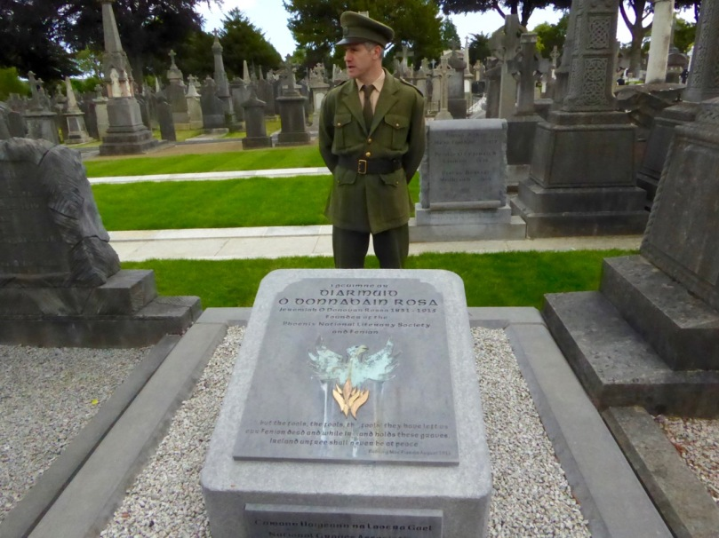 We toured Glasnevin Cemetary on Dublin this summer. The tour included a re-enactment of Patric Pearse's oration at the grave of O'Donovan Rossa