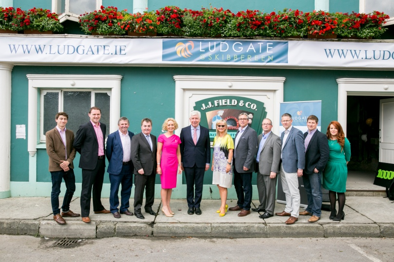 NO REPRO FEE Pictured at the 'sod turning' launch of the Skibbereen's Ludgate Hub at the old fields bakery on Friday 7th August 2015 Picture: Emma Jervis Photography