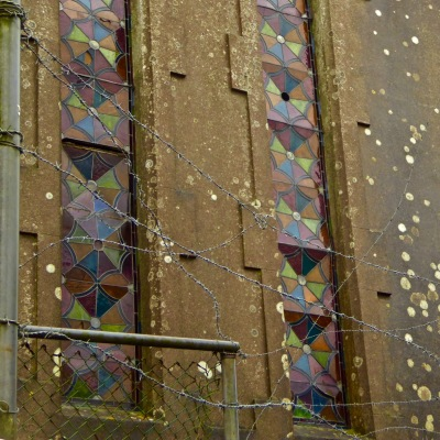 Mthodist Church Ballydehob barbed wire
