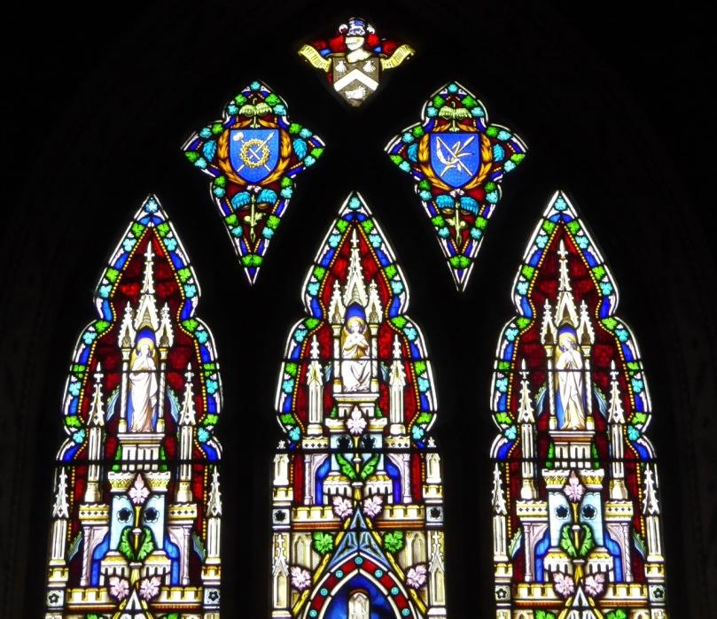 East Window heraldic