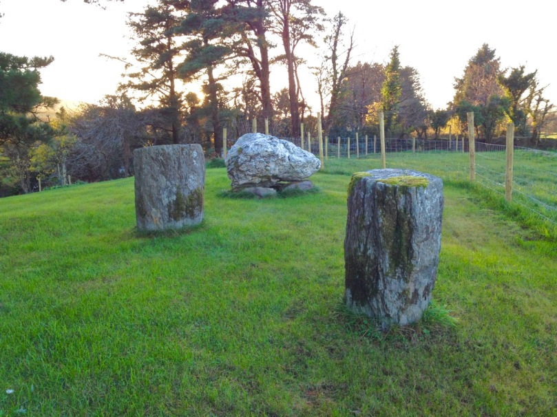 Ballycommane boulder burial and standing stone pair
