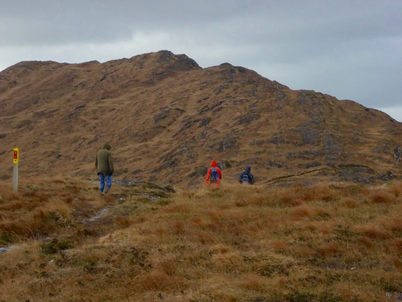 Heading towards the cairn