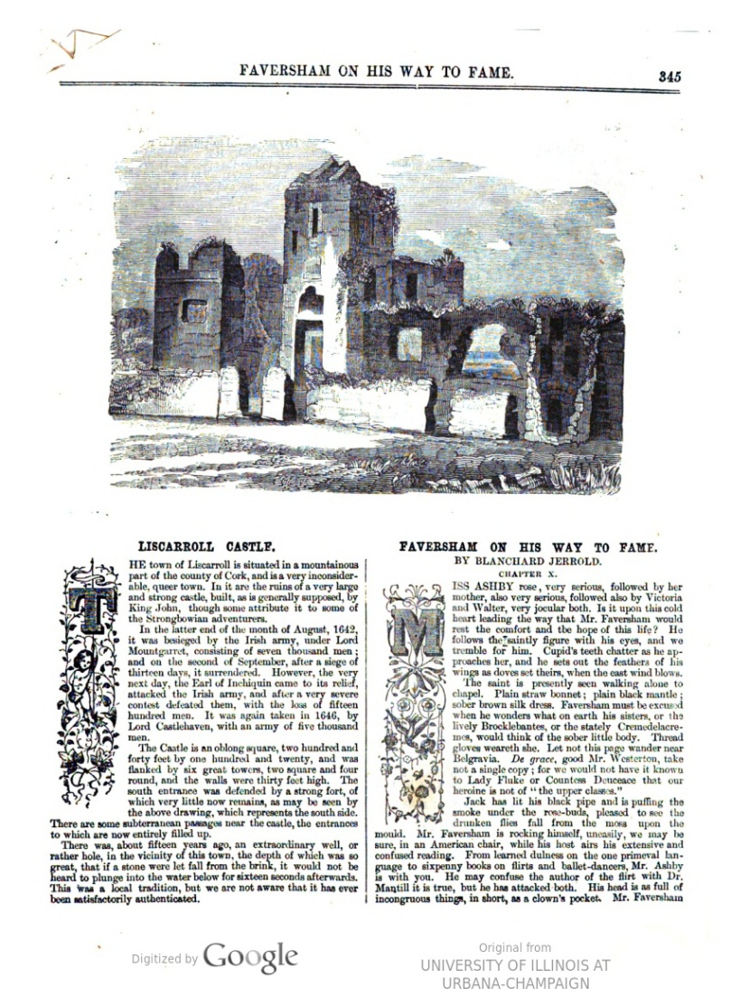 Liscarrol from Illustrated Dublin Journal