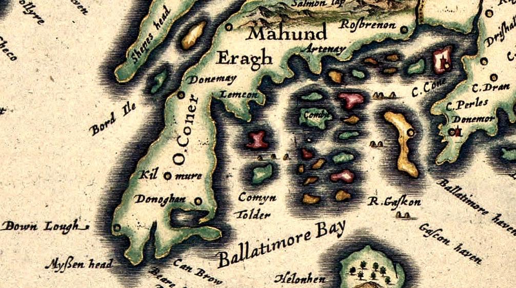 1611 John Speed map – Roaringwater