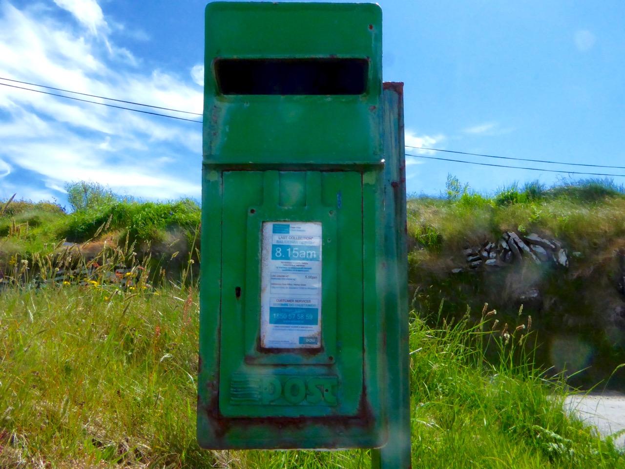 Cape Clear post box closer